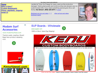 Plus d'information sur: : Kenuhawaii custom bodyboards